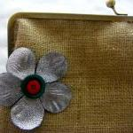 "10"" Fancy Jute Clutch .."