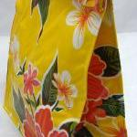 Oilcloth Lunch Bag: Hibiscu..