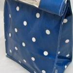 Oilcloth Lunch Bag - Spots ..