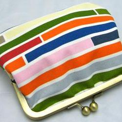 6&amp;quot; Fabby Purse - Horizontal Stripes  